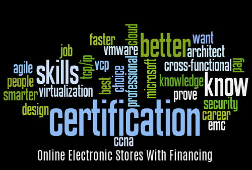 Online Electronic Stores with Financing